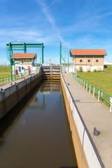 Water management Lemster lock in Friesland netherlands