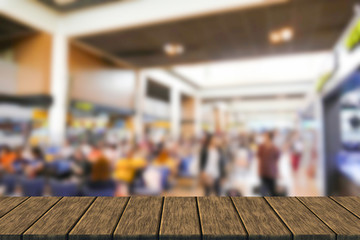 blurry defocused image of passenger at the airport