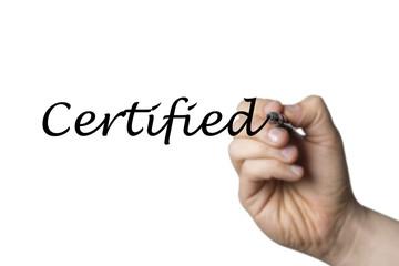 Papier Peint - Certified written by a hand