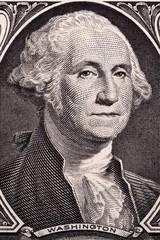 George Washington, portrait on US one dollar
