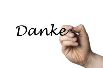 Papier Peint - Danke written by a hand