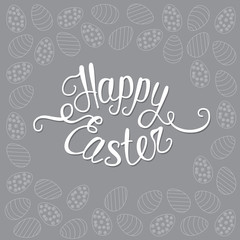 Happy Easter gray greeting card