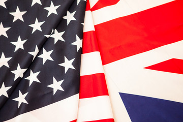Flags of the United States and Great Britain. Two of the flag States to develop.
