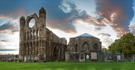 Poster de jardin Ruine Elgin Cathedral