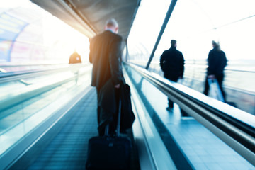 business travel speed concept