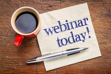 webinar today reminder on napkin