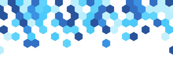 Blue and white abstract banner.