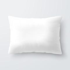 Blank white rectangular pillow / cushion
