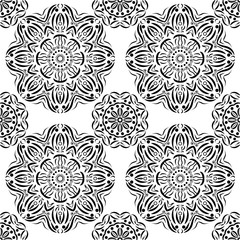 Vector seamless pattern in boho style.