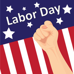 Vector of Labor day card design