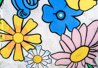 Faded Flowers Painting