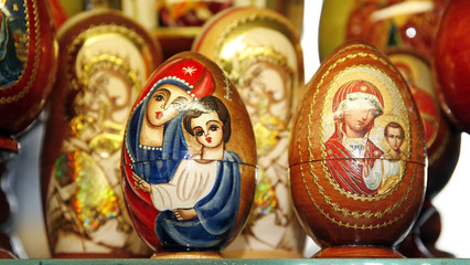 Easter egg with sacred symbol