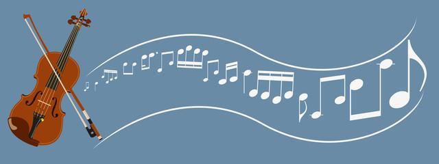 violin,bow and sheet music