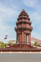 Independence Monument is the one of landmark in Phnom Penh, Cambodia