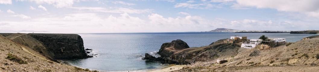 Panorama Aufnahme Küste von Lanzarote