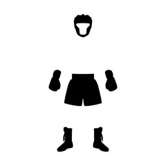 Vector illustration boxing equipment