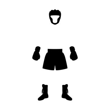 Vector illustration boxing equipment