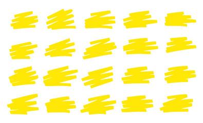 Gribouillis Jaune Surligneur - Yellow Scribbles Marker pen
