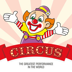The clown and the words Circus.