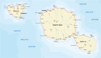 tahiti_moorea road map
