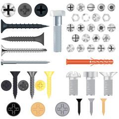 Screws, bolts. Set
