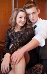 Cute Dressed Up Teenage Couple