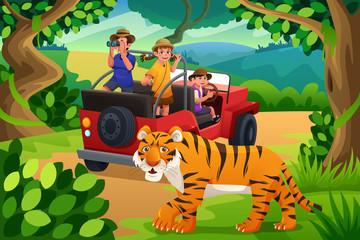 Kids Going to Jungle Safari
