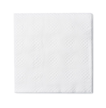 Top view of white paper napkin