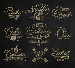 Flat bakery symbols