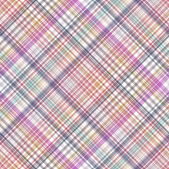 Seamless cross colorful, checkered diagonal pattern. Vector EPS