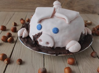 pig birthday cake