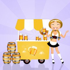 girl selling beerbeer