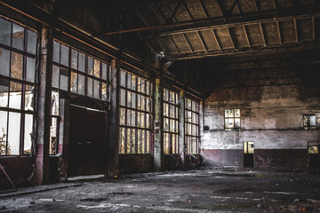 Old Rusty Factory Room