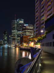 The waterfront on the Brisbane River in Queensland