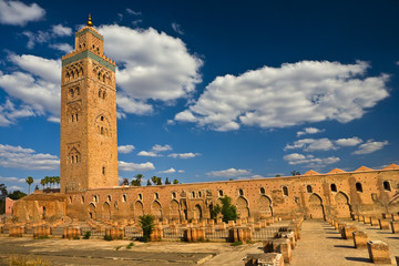 Morocco. Marrakech. Mosque of Koutoubia