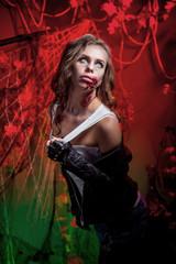 образ зомби на хеллоуин