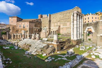 Forum of Augustus is one of the Imperial forums in Rome, Italy