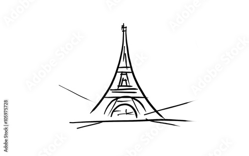 la tour eiffel dessin related keywords la tour eiffel. Black Bedroom Furniture Sets. Home Design Ideas