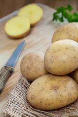 Ungeschälte Kartoffeln