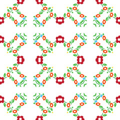 Seamless flower tradional ornament background patter