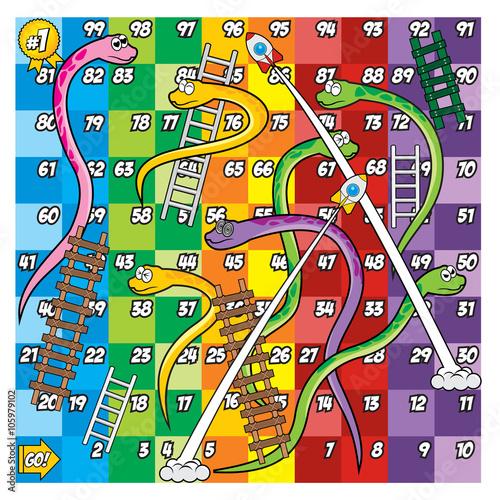 Snake, Ladder and Rocket Game\