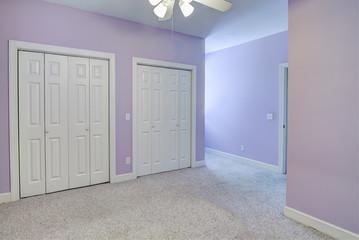 simple empty bedroom,