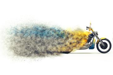Heavy bike particle disintegration