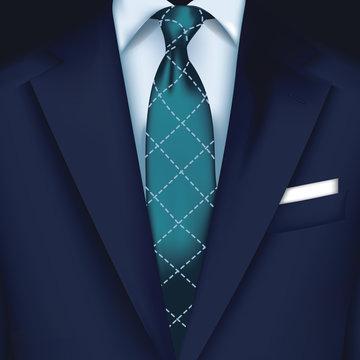 Suit vector background with tie