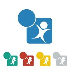 children logo icon Vector