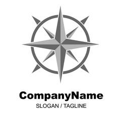 compass vector logo icon