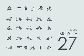 Set of bicycle icons