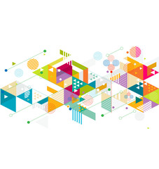 Abstract colorful and creative mix geometric background, vector