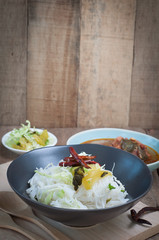 Thai spicy food with Vermicelli.