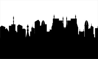 Silhouette of the city heritage